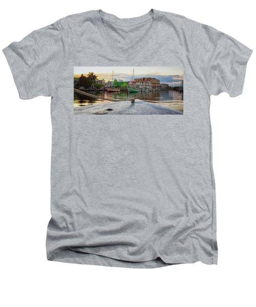 Belize City Harbor Men's V-Neck T-Shirt