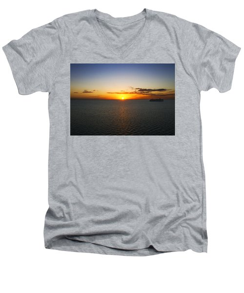 Belize Sunset Men's V-Neck T-Shirt by Marlo Horne