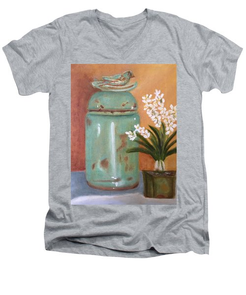 Bell Jar Men's V-Neck T-Shirt by Sharon Schultz