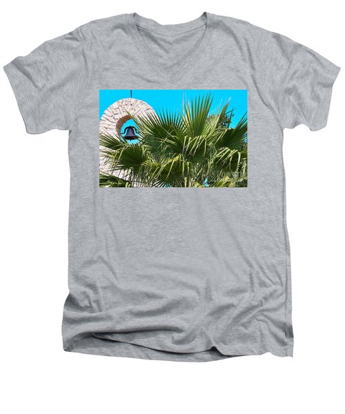 Men's V-Neck T-Shirt featuring the photograph Bell by Ray Shrewsberry