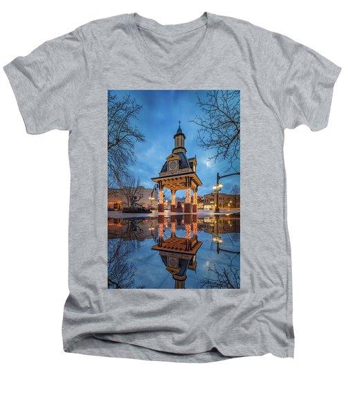 Bell Tower  In Beaver  Men's V-Neck T-Shirt