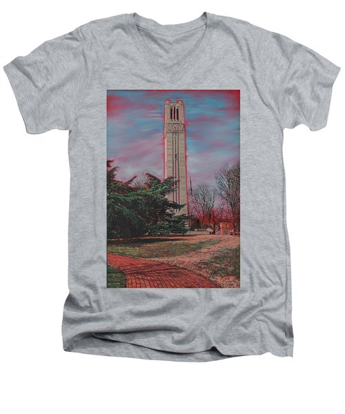 Bell Tower Men's V-Neck T-Shirt