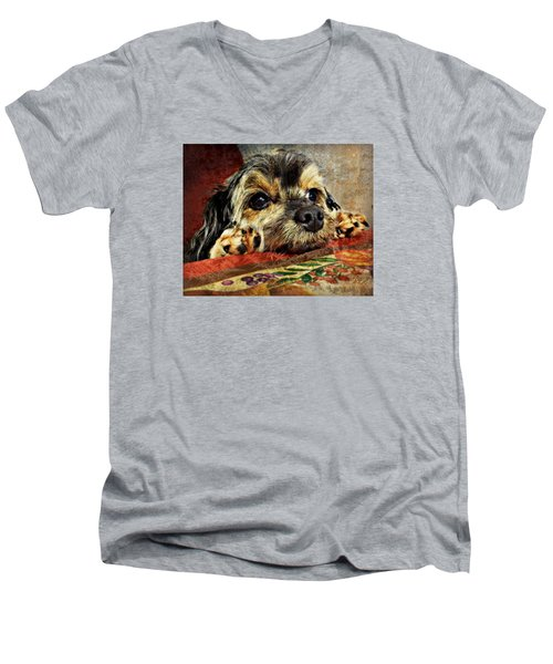 Bella's Thanksgiving Men's V-Neck T-Shirt by Kathy M Krause