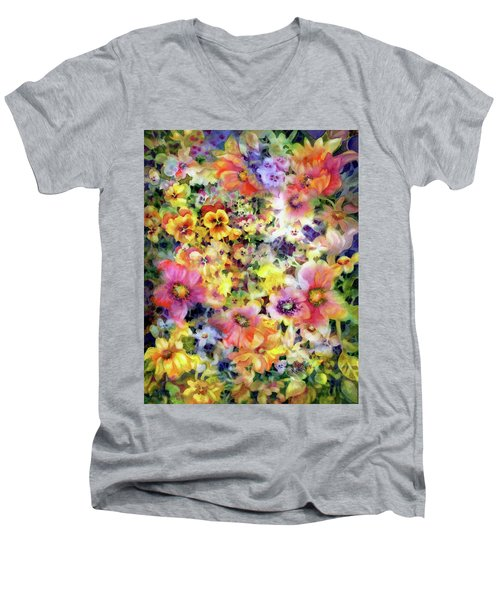 Belle Fleurs I Men's V-Neck T-Shirt