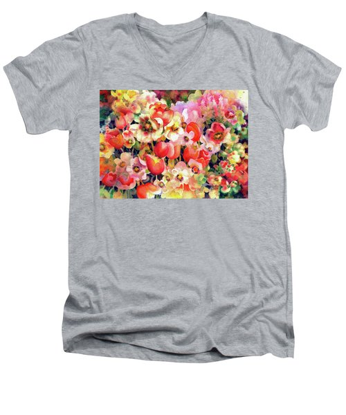 Belle Fleurs II Men's V-Neck T-Shirt