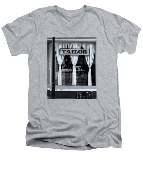 Men's V-Neck T-Shirt featuring the photograph Bellows Falls Tailor by Tom Singleton