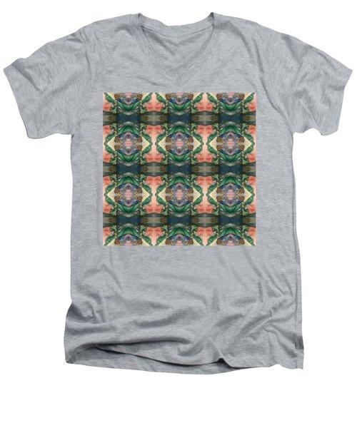 Belly Dance Mirror Image Men's V-Neck T-Shirt