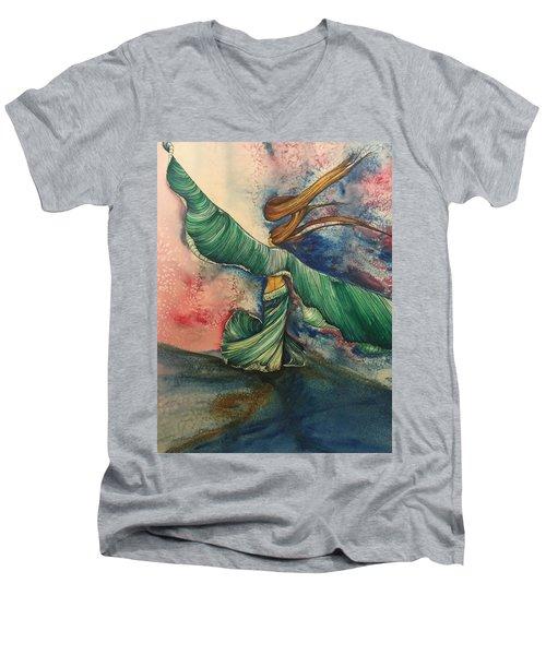 Belly Dancer With Wings  Men's V-Neck T-Shirt