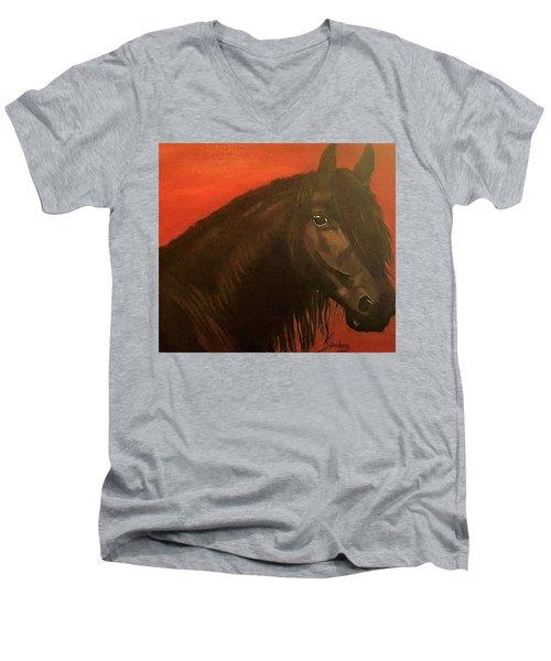 Belmonte Men's V-Neck T-Shirt by Manuel Sanchez
