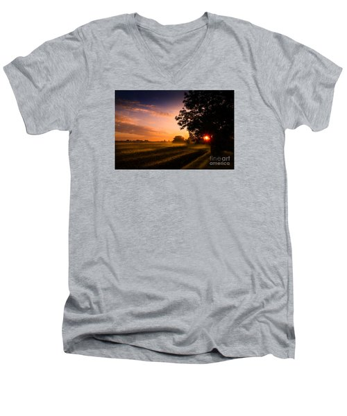 Beloved Land Men's V-Neck T-Shirt by Franziskus Pfleghart
