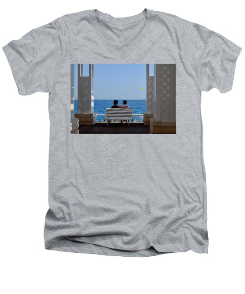 Below Sea Level Men's V-Neck T-Shirt