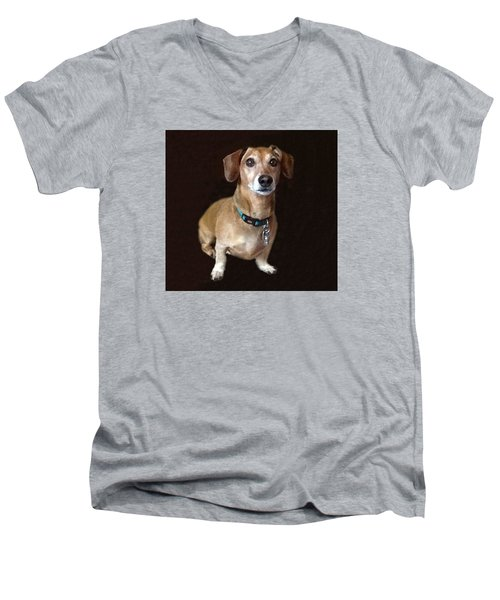 Ben And Sharon Friend Men's V-Neck T-Shirt by Fortunate Findings Shirley Dickerson