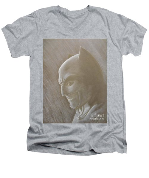 Ben As Batman Men's V-Neck T-Shirt