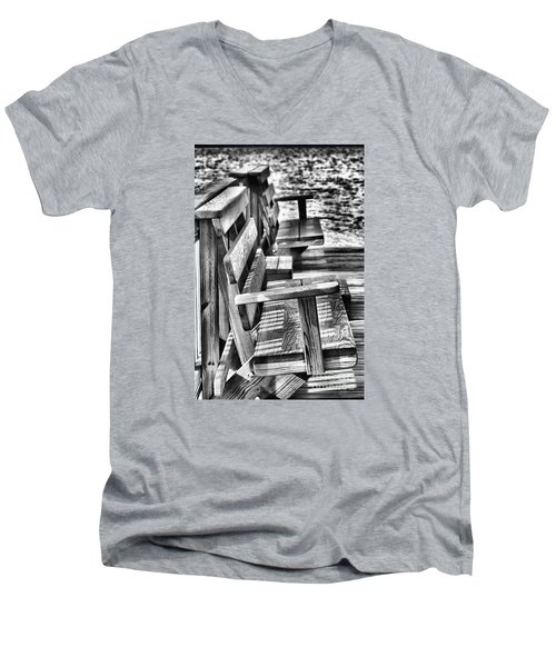 Benches By The Sea Men's V-Neck T-Shirt