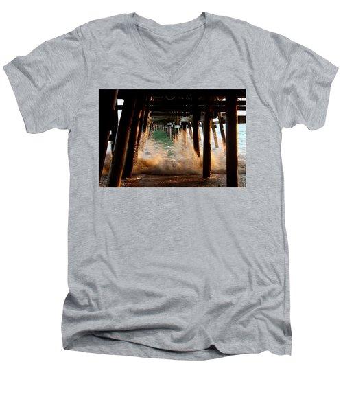 Beneath The Pier Men's V-Neck T-Shirt
