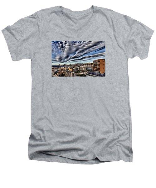 Benidorm Old Town Aerial View Men's V-Neck T-Shirt