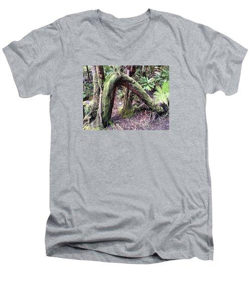 Bent But Not Broken Men's V-Neck T-Shirt by Russell Keating