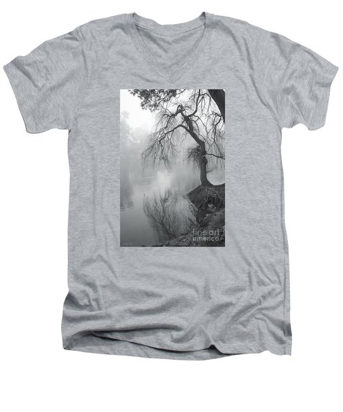 Men's V-Neck T-Shirt featuring the photograph Bent With Gentleness And Time by Linda Lees