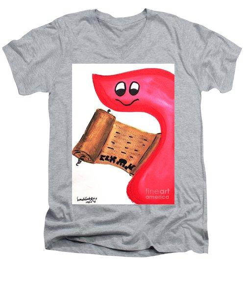 Bereshit Resh Means Begin Men's V-Neck T-Shirt