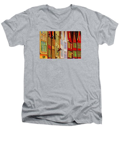 Bergen Warehouses Men's V-Neck T-Shirt by Dennis Cox WorldViews