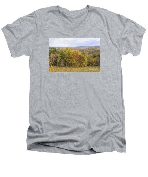 Berkshires In Autumn Men's V-Neck T-Shirt