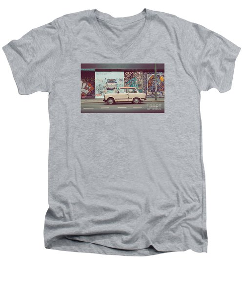 Berlin East Side Gallery Men's V-Neck T-Shirt by JR Photography