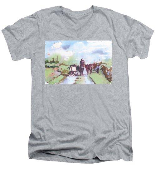 Bernie On The Road Men's V-Neck T-Shirt