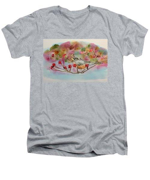 Berry Abundant II Men's V-Neck T-Shirt
