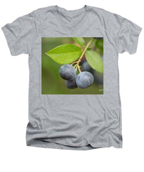 Berrydelicious Men's V-Neck T-Shirt by Kim Henderson