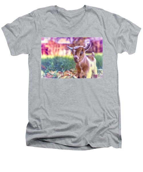 Men's V-Neck T-Shirt featuring the photograph Bert by TC Morgan