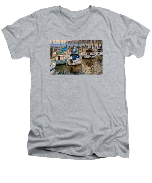 Berthed Men's V-Neck T-Shirt by Ed Hall