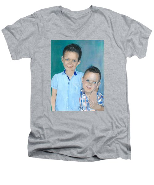 Best Brothers - Painting Men's V-Neck T-Shirt