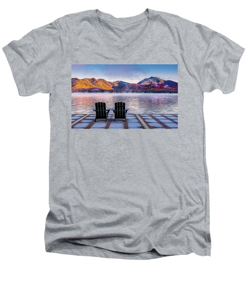 Best Seats In The Adirondacks Men's V-Neck T-Shirt