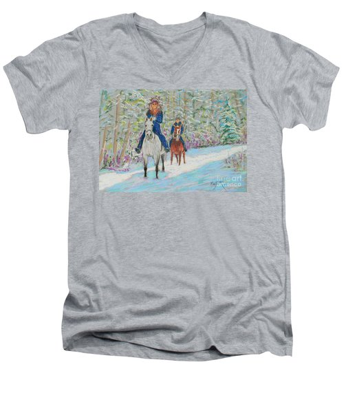 Beth And Nancy  Men's V-Neck T-Shirt by Rae  Smith  PAC