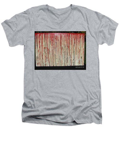Men's V-Neck T-Shirt featuring the painting Betrayal by Jacqueline Athmann
