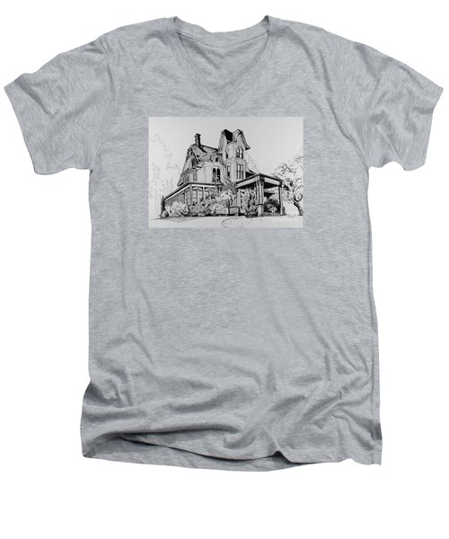 Betsy Ross' Home In Dover, N.j. Men's V-Neck T-Shirt