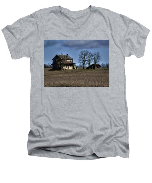 Men's V-Neck T-Shirt featuring the photograph Better Days by Robert Geary