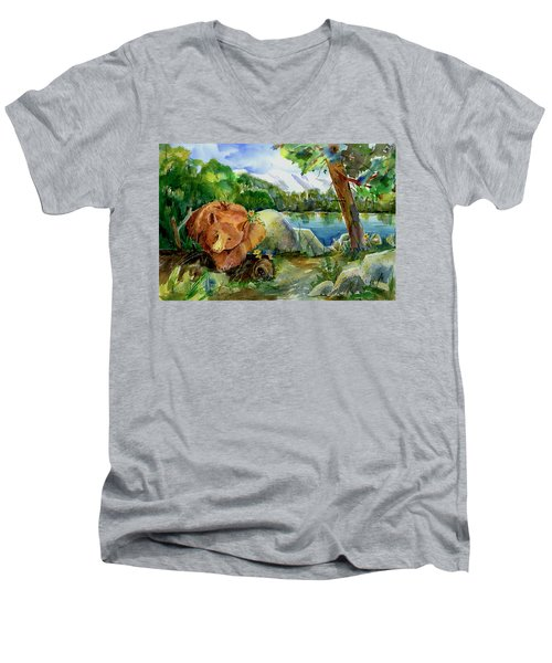 Between A Rock And Hardplace Men's V-Neck T-Shirt