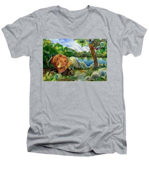 Between A Rock And Hardplace Men's V-Neck T-Shirt