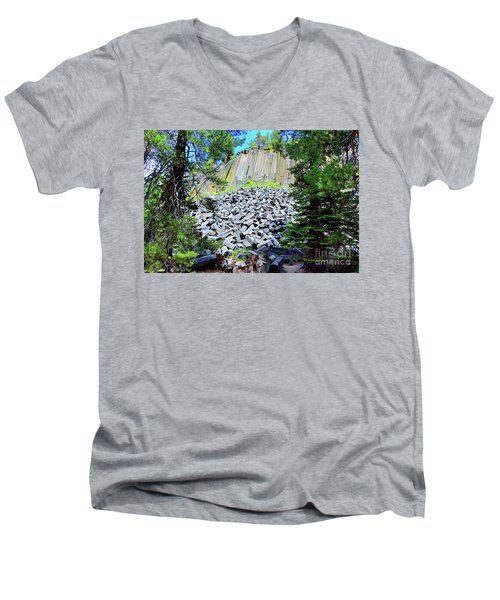 Between The Trees Devils Postpile Men's V-Neck T-Shirt