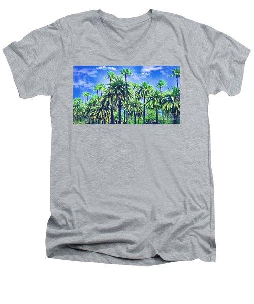 Beverly Hills Palms Men's V-Neck T-Shirt