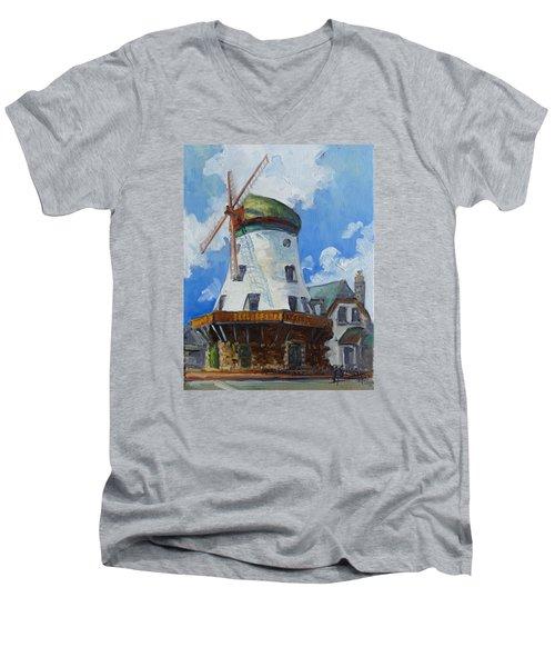 Bevo Mill - St. Louis Men's V-Neck T-Shirt by Irek Szelag
