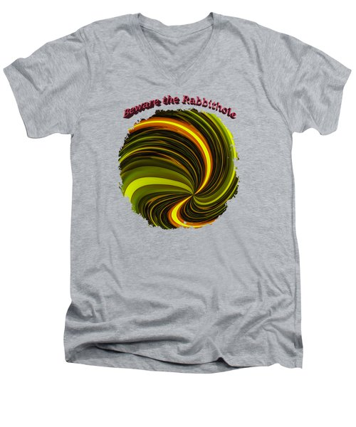 Beware The Rabbit Hole Men's V-Neck T-Shirt