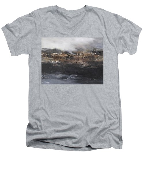 Beyond The Cliffs Men's V-Neck T-Shirt by Roberta Rotunda