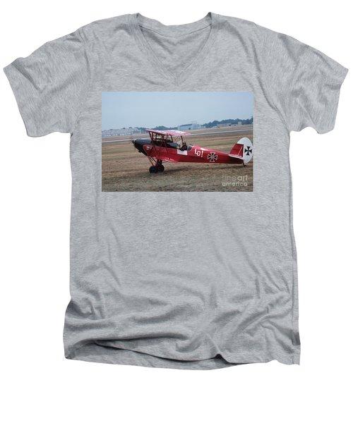 Bi-wing-2 Men's V-Neck T-Shirt