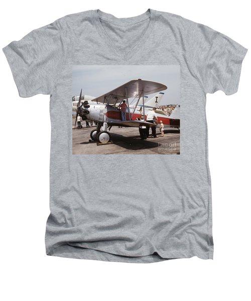 Bi-wing-3 Men's V-Neck T-Shirt