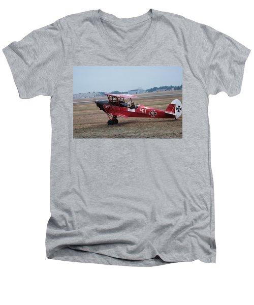 Bi-wing-7 Men's V-Neck T-Shirt