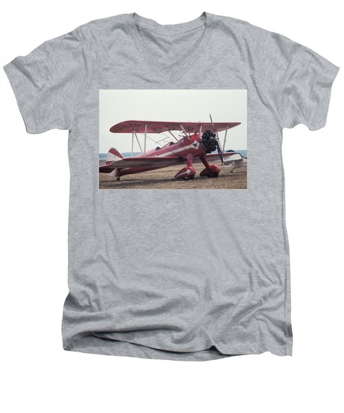 Bi-wing-9 Men's V-Neck T-Shirt