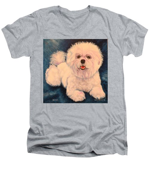 Bichon Frise Men's V-Neck T-Shirt