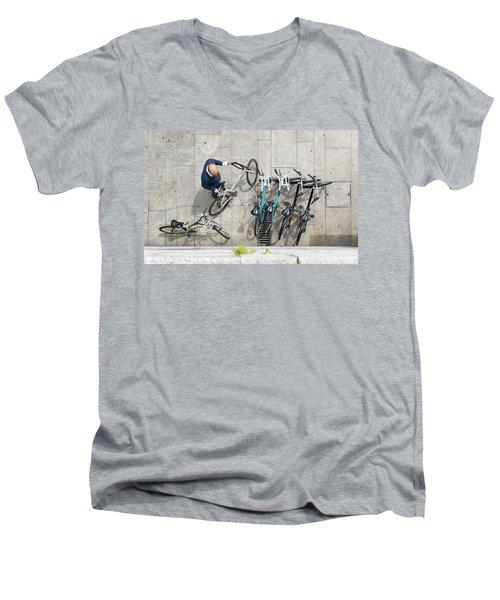 Bicicle Men's V-Neck T-Shirt